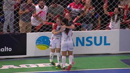 Os gols de Leoas da Serra 3 (2) x (1) 1 Atlético Navalcarnero na final da Copa Intercontinental de futsal feminino