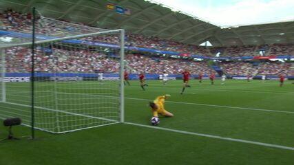 Melhores momentos: Estados Unidos 2 x 1 Espanha pelas oitavas de final da Copa do Mundo de futebol feminino