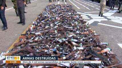Exército destrói mais de 4 mil armas em Vila Velha, ES