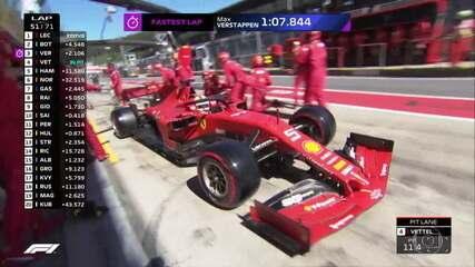 Vettel faz seu segundo pit stop na prova