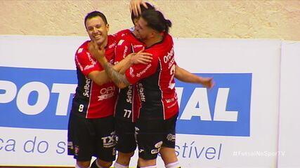 Os gols de Joinville 5 x 1 Blumenau pela Liga Nacional de Futsal