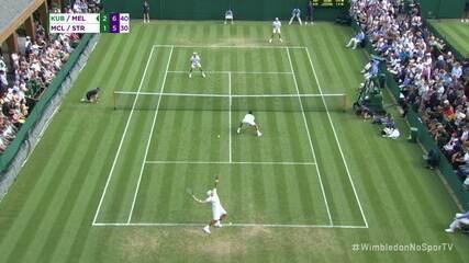 Match point da vitória de Marcelo Melo e Lukasz Kubot na estreia de Wimbledon