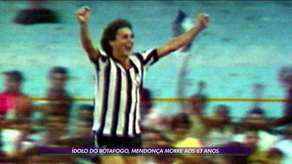 Ídolo do Botafogo, Mendonça morre aos 63 anos