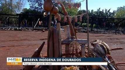 Casa de reza indígena é destruída por incêndio em Dourados