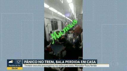 Passageiros de trem ficam na linha de tiro na estação de Santíssimo