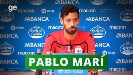 """Pablo Marí """"se apresenta"""" para a torcida do Flamengo"""