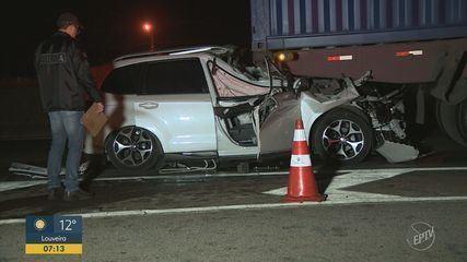 Homem morre após bater na traseira de um caminhão na rodovia Anhanguera