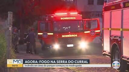 Incêndio atinge Serra do Curral na Região Centro-Sul de Belo Horizonte