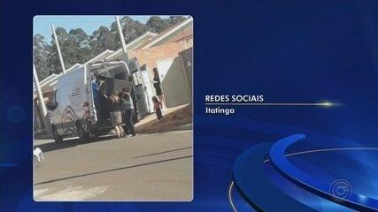 Ambulância é fotografada sendo usada para fazer mudança em Itatinga