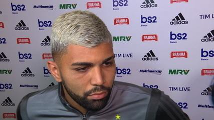 Gabigol comenta sobre a comemoração dos jogadores do Athletico-PR