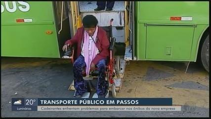 Cadeirantes enfrentam problemas com novos ônibus do transporte público em Passos (MG)