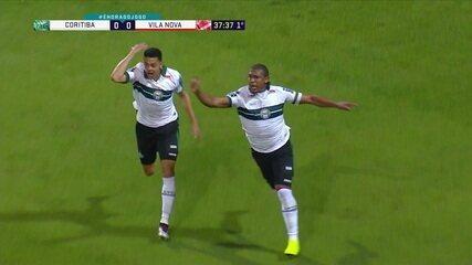 Os gols de Coritiba 2 x 0 Vila Nova pela 11ª rodada da Série B do Brasileiro