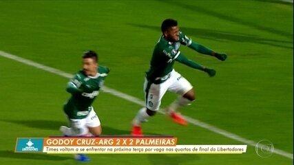 Palmeiras se recupera e consegue empate contra o Godoy Cruz