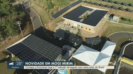 1ª estação de esgoto movida a energia solar começa a funcionar nesta quinta em Mogi Mirim