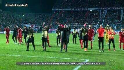 Paolo Guerrero marca no fim e Inter ganha do Nacional, pela Libertadores