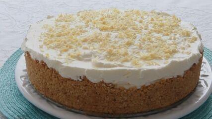 Culinaria #013: Aprenda a fazer uma torta de limão siciliano com chocolate branco