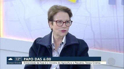 Ministra da Agricultura e Pecuária é a entrevista do Papo das 6 desta sexta-feira (26)
