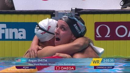 Regan Smith vence a segunda semifinal dos 200m costas masculino e conquista o recorde mundial