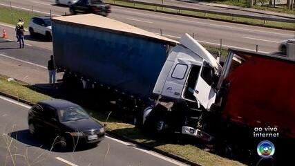 Acidente deixa um morto e oito feridos em rodovia em Jundiaí