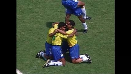 Pedro Bial bate um papo com jogadores que conquistaram o tetra em 94