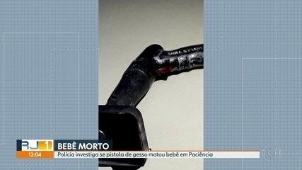 Polícia investiga se pistola de gesso matou bebê em Paciência, na Zona Oeste