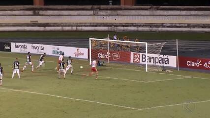Tombense vence Remo; zagueiro atravessa campo de joelhos após o jogo