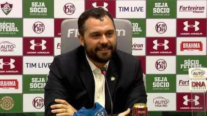 Mário Bittencourt fala sobre venda de atleta da base, Diniz, Fred e outros temas