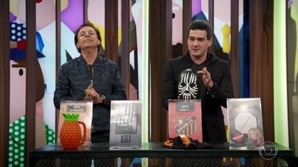 Marcos Veras tenta vender objetos históricos de programas da TV Globo