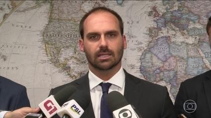 EUA dão sinal verde para Eduardo Bolsonaro assumir embaixada do Brasil em Washington