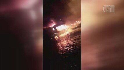 Incêndio destrói mais de 10 moradias em comunidade de Santos, SP