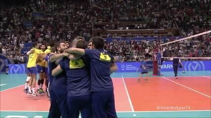 Melhores momentos: Brasil 3 x 2 Bulgária pelo Pré-Olímpico de Vôlei