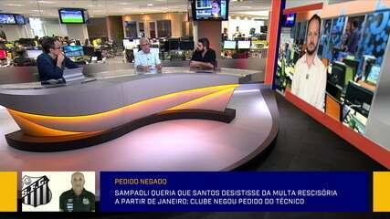 Redação SporTV debate sobre a multa rescisória do Sampaoli no Santos