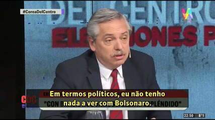 Alberto Fernández chama Bolsonaro de 'racista, misógino e violento'
