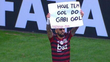 Gol do Flamengo! Gabigol pega rebote na área e marca o terceiro do rubro-negro, aos 16 do 2º