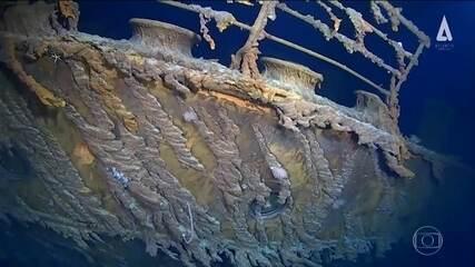 Novas imagens do Titanic mostram que navio está se deteriorando rapidamente