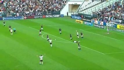 Pedrinho é atingido durante Corinthians x Botafogo