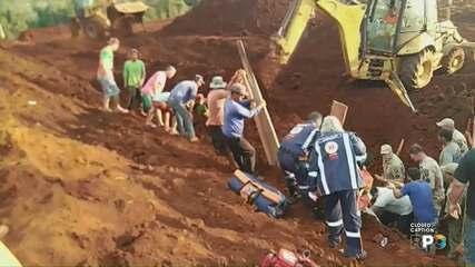 Operários são soterrados em Marilândia do Sul