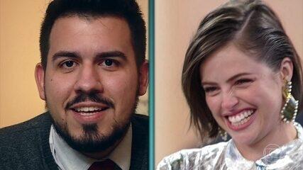 Agatha Moreira recebe mensagem do primeiro namorado