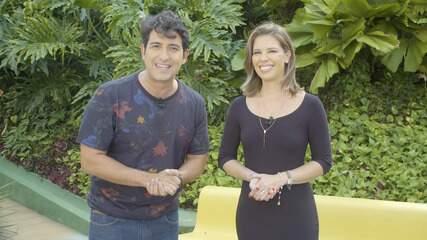 Timbó bate-papo com a apresentadora Camila Marinho, que anuncia novidades na TV Bahia