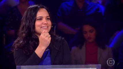 Nathalia continua no desafio no 'Quem Quer Ser Um Milionário'