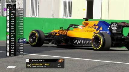 Carlos Sainz abandona a prova com a roda dianteira solta