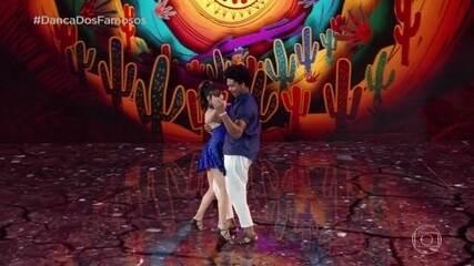 Luiza Tomé dança com Marcus Lobo