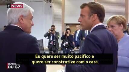 Em vídeo, Macron reclama de Bolsonaro com presidente do Chile