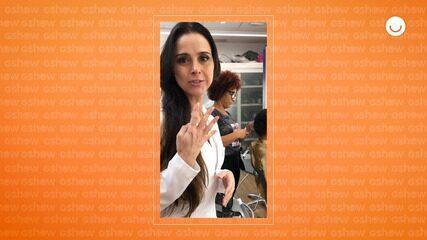 Alexandra Martins mostra bastidores do corte de cabelo do ator David Reis