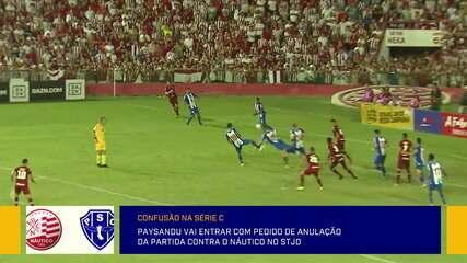 Paysandu prepara pedido no STJD de anulação de partida contra o Náutico pela Série C