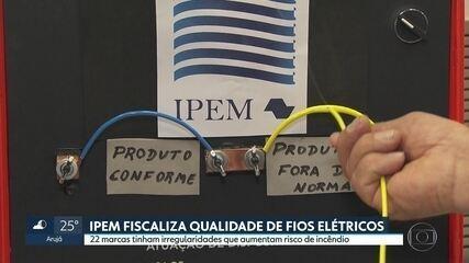 IPEM encontra problemas em 22 marcas de fiação elétrica que podem causar incêndios