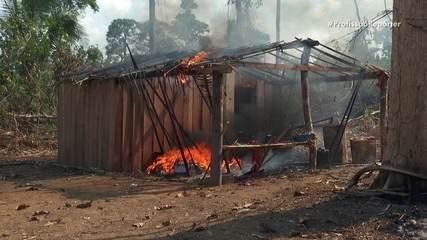 Metade dos focos de incêndio em 2019 no Brasil está na floresta amazônica