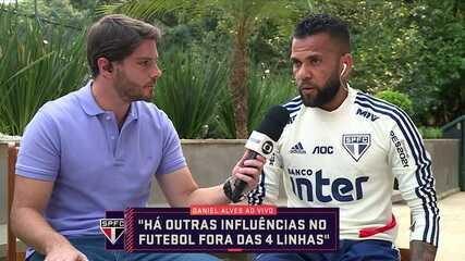Daniel Alves comenta declaração polêmica e posicionamento nos jogos