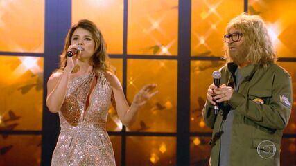 Agnaldo canta 'Juntos e Shallow Now' com Paula Fernandes no 'Lata Velha'