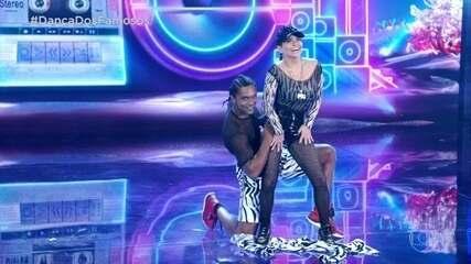 Luiza Tomé dança funk com Marcus Lobo